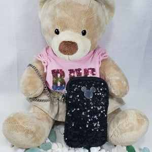 Disney Parks Mickey Sequin Tech Phone Wristlet